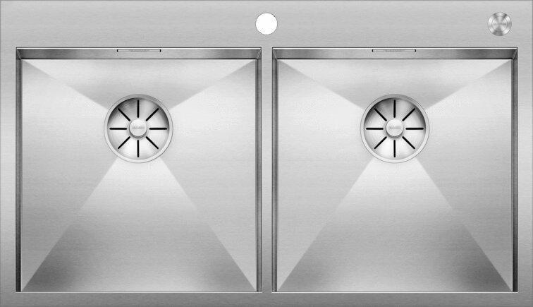 Мойка кухонная Blanco Zerox 400/400-IF/А клапан-автомат