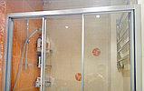 Душевая дверь в нишу GuteWetter Practic Door GK-403A правая 116-120 см стекло бесцветное, профиль матовый хром, фото 3