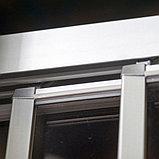Душевая дверь в нишу GuteWetter Practic Door GK-403A правая 116-120 см стекло бесцветное, профиль матовый хром, фото 5