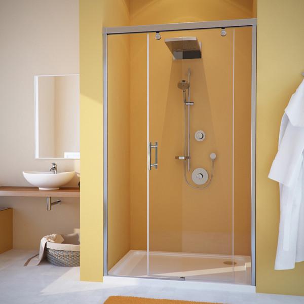 Душевая дверь в нишу GuteWetter Slide Door GK-862 правая 110 см стекло бесцветное, профиль хром