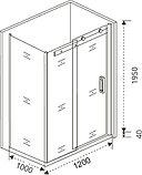 Душевой уголок Good Door Galaxy WTW+SP-C-CH 120х100, профиль хром, фото 5