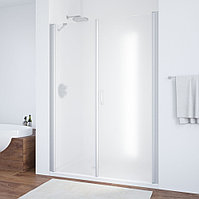 Душевая дверь в нишу Vegas Glass EP-F-2 160 07 10 R профиль матовый хром, стекло сатин