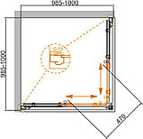 Душевой уголок Cezares Giubileo-A-2-100 прозрачное стекло, бронза, фото 5