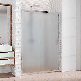 Душевая дверь в нишу Kubele DE019D2-MAT-CH 175 см, профиль хром