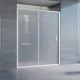 Душевая дверь в нишу Vegas Glass ZP 160 01 10 профиль белый, стекло сатин, фото 2