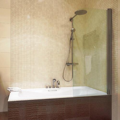 Шторка на ванну GuteWetter Lux Pearl GV-601 правая 50 см стекло бесцветное, профиль хром