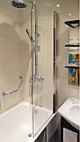 Шторка на ванну GuteWetter Lux Pearl GV-601 правая 50 см стекло бесцветное, профиль хром, фото 2