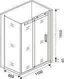 Душевой уголок Good Door Galaxy WTW+SP-C-В 110x80, профиль черный, фото 5