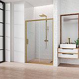 Душевая дверь в нишу Kubele DE019D2-CLN-BR 110 см, профиль бронза, фото 2