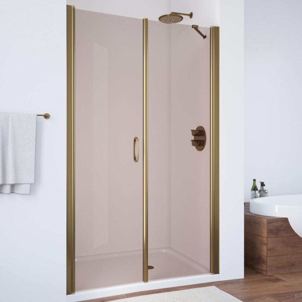Душевая дверь в нишу Vegas Glass EP-F-2 105 05 05 L профиль бронза, стекло бронза