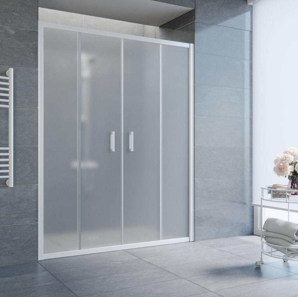 Душевая дверь в нишу Vegas Glass Z2P 170 01 10 профиль белый, стекло сатин
