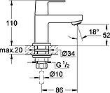 Кран Grohe Eurocube 23137000 для раковины, фото 7