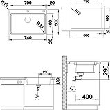 Мойка кухонная Blanco Etagon 700-IF/A, фото 6