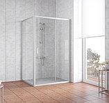Душевой уголок Vegas Glass ZP+ZPV 140*90 07 01 профиль матовый хром, стекло прозрачное, фото 2