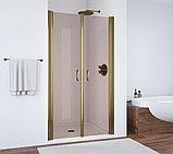 Душевая дверь в нишу Vegas Glass E2P 90 05 05 профиль бронза, стекло бронза, фото 2