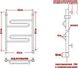 Полотенцесушитель электрический Ника Curve ЛZ 60/40-2 L, фото 3
