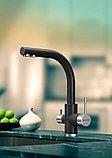 Смеситель Paulmark Essen Es213011-401 для кухонной мойки, антрацит с системой обратного осмоса, фото 4