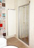 Душевая дверь в нишу GuteWetter Practic Door GK-403A левая 136-140 см стекло бесцветное, профиль матовый хром, фото 2