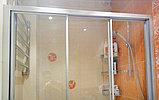 Душевая дверь в нишу GuteWetter Practic Door GK-403A левая 136-140 см стекло бесцветное, профиль матовый хром, фото 3
