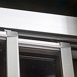 Душевая дверь в нишу GuteWetter Practic Door GK-403A левая 136-140 см стекло бесцветное, профиль матовый хром, фото 5