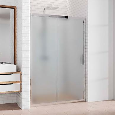 Душевая дверь в нишу Kubele DE019D2-MAT-CH 90 см, профиль хром