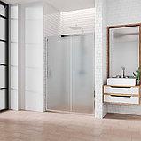 Душевая дверь в нишу Kubele DE019D2-MAT-CH 120 см, профиль хром, фото 2