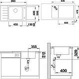 Мойка кухонная Blanco Andano XL 6S-IF Compact R, клапан-автомат, фото 4