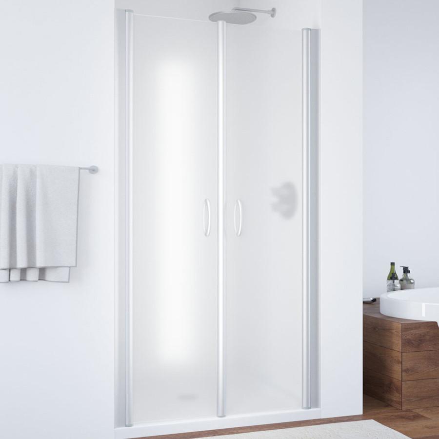 Душевая дверь в нишу Vegas Glass E2P 90 07 10 профиль матовый хром, стекло сатин