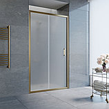 Душевая дверь в нишу Vegas Glass ZP 100 05 10 профиль бронза, стекло сатин, фото 2