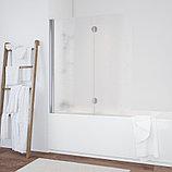 Шторка на ванну Vegas Glass E2V 120 08 02 L профиль глянцевый хром, стекло шиншилла, фото 2