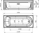 Акриловая ванна Radomir Vannesa Аврора 4 170x70 с каркасом, фото 3