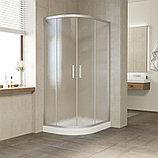 Душевой уголок Vegas Glass ZS-F 100*80 07 02 профиль матовый хром, стекло шиншилла, фото 2