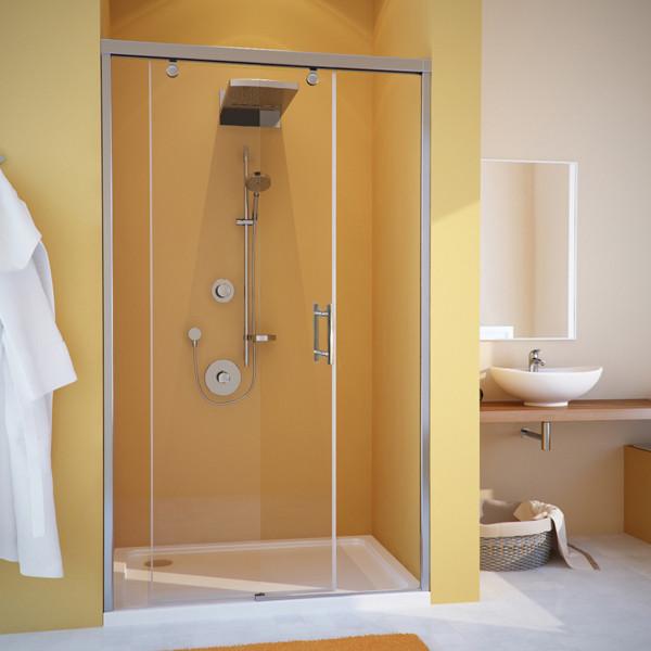Душевая дверь в нишу GuteWetter Slide Door GK-862 левая 110 см стекло бесцветное, профиль хром