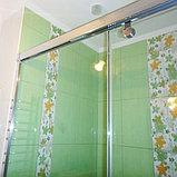 Душевая дверь в нишу GuteWetter Slide Door GK-862 левая 110 см стекло бесцветное, профиль хром, фото 5