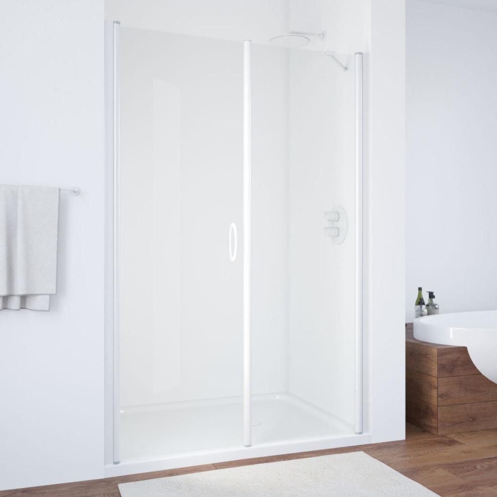 Душевая дверь в нишу Vegas Glass EP-F-2 135 01 01 L профиль белый, стекло прозрачное