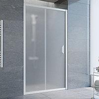 Душевая дверь в нишу Vegas Glass ZP 100 01 10 профиль белый, стекло сатин