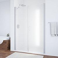 Душевая дверь в нишу Vegas Glass EP-F-2 145 07 10 R профиль матовый хром, стекло сатин