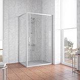 Душевой уголок Vegas Glass ZP+ZPV 110*80 07 01 профиль матовый хром, стекло прозрачное, фото 2