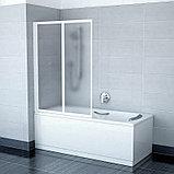 Шторка на ванну Ravak VS2 105 Grape, профиль белый, фото 3