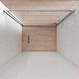 Душевая дверь в нишу Kubele DE019D2-CLN-MT 135 см, профиль матовый хром, фото 3