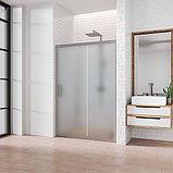 Душевая дверь в нишу Kubele DE019D2-MAT-MT 90 см, профиль матовый хром, фото 2