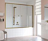 Шторка на ванну Vegas Glass Z2V 180 05 01 профиль бронза, стекло прозрачное, фото 2