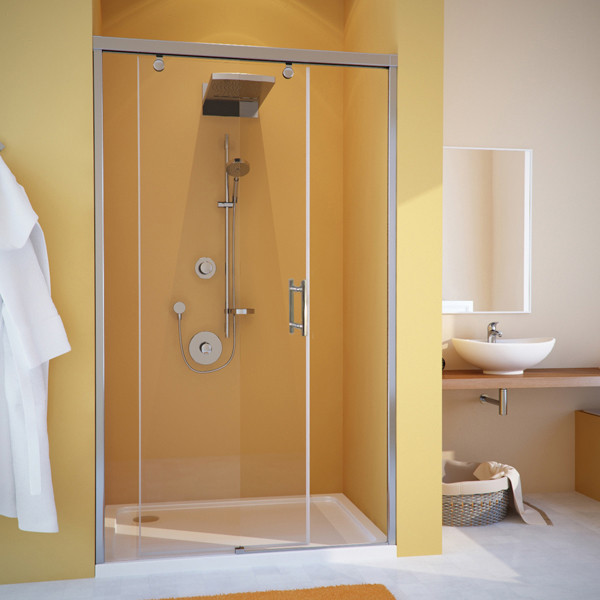 Душевая дверь в нишу GuteWetter Slide Door GK-862 левая 150 см стекло бесцветное, профиль хром