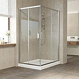 Душевой уголок Vegas Glass ZA-F 110*100 08 01 профиль глянцевый хром, стекло прозрачное, фото 2