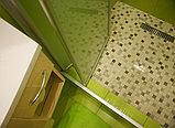 Душевая дверь в нишу GuteWetter Practic Door GK-404 левая (118-122)x190 стекло бесцветное, профиль мат. хром, фото 2