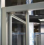 Душевая дверь в нишу GuteWetter Practic Door GK-404 левая (118-122)x190 стекло бесцветное, профиль мат. хром, фото 3