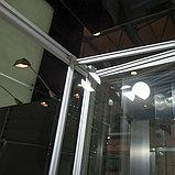 Душевая дверь в нишу GuteWetter Practic Door GK-404 левая (118-122)x190 стекло бесцветное, профиль мат. хром, фото 4