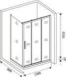 Душевой уголок Good Door Orion WTW+SP-G-CH 130х80, фото 5