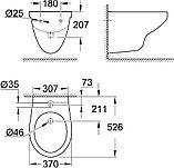 Биде подвесное Grohe Bau Ceramic 39433000, фото 5