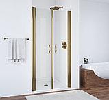 Душевая дверь в нишу Vegas Glass E2P 80 05 01 профиль бронза, стекло прозрачное, фото 2